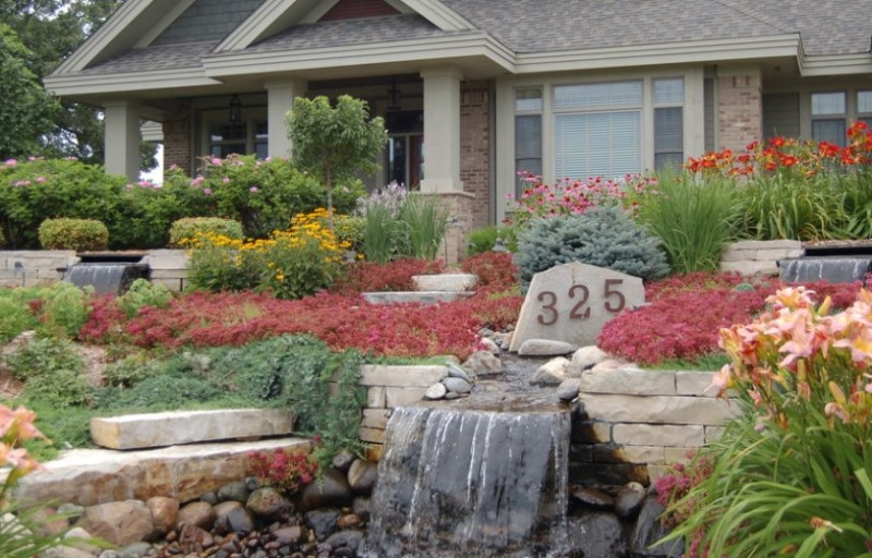 25 rock garden designs landscaping ideas for front yard for Front flower garden ideas