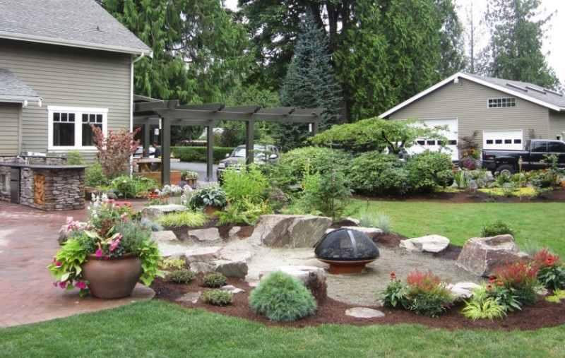 32 Backyard Rock Garden Ideas: 25 Rock Garden Designs Landscaping Ideas For Front Yard