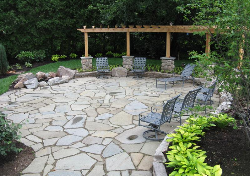 20+ Best Stone Patio Ideas for Your Backyard - Home and ... on Backyard Masonry Ideas id=57129