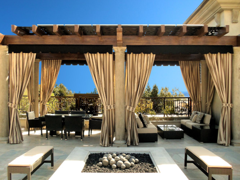 install-curtain-rods-patio-privacy