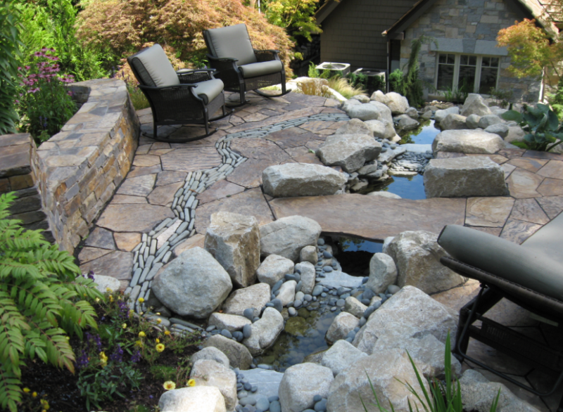 20 best stone patio ideas for your backyard home and for Flagstone patio designs