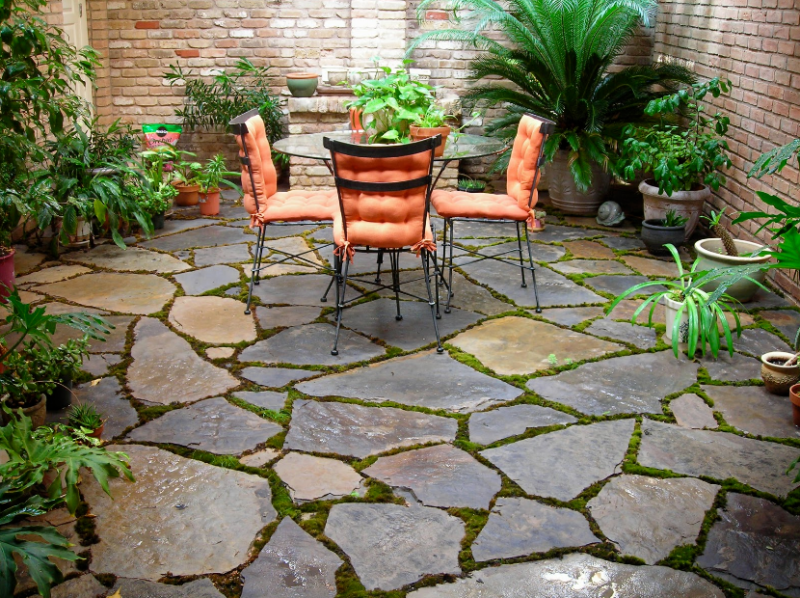 Stone Patio Asian Design
