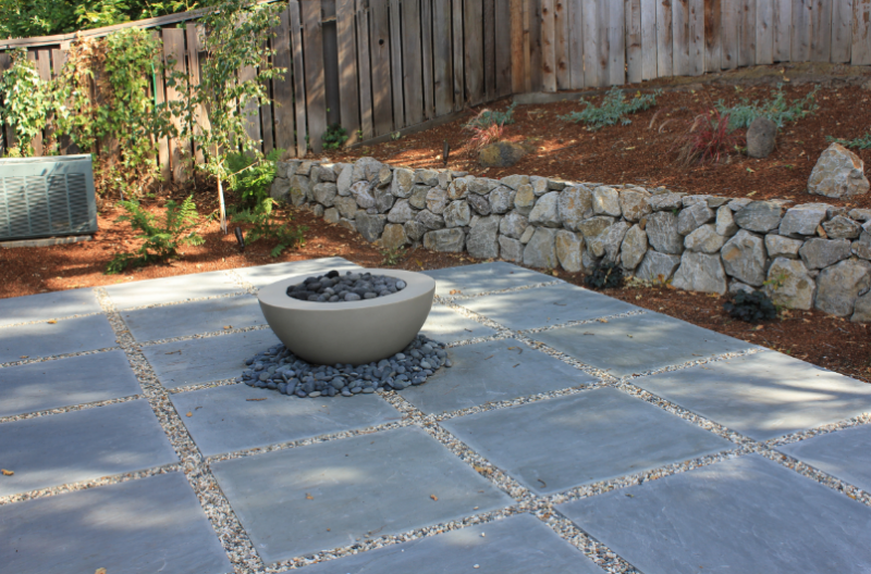Stone Patio With Small Rock