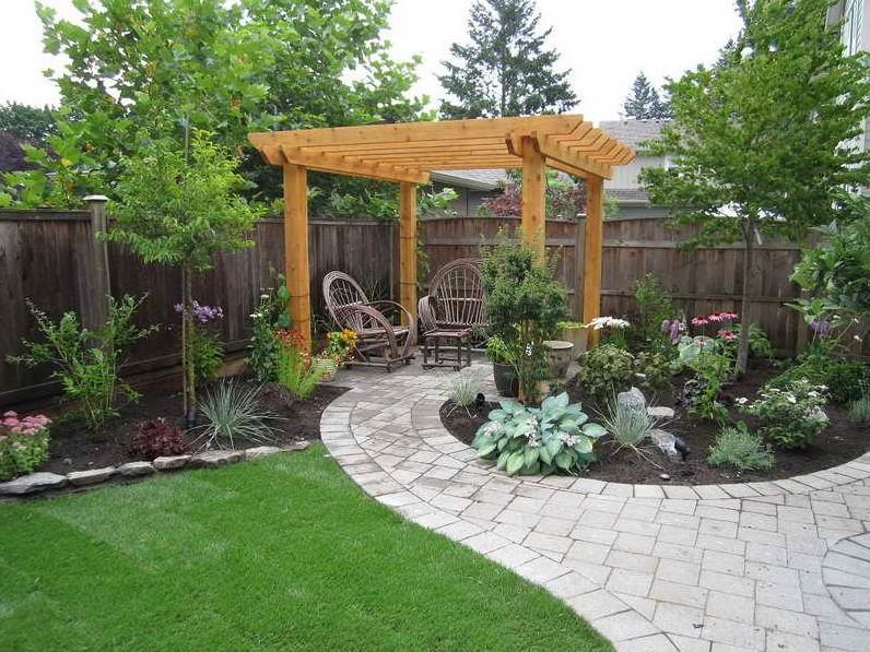 Patio in the Beautiful Backyard