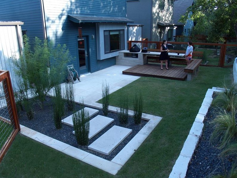 beautiful backyard minimalist