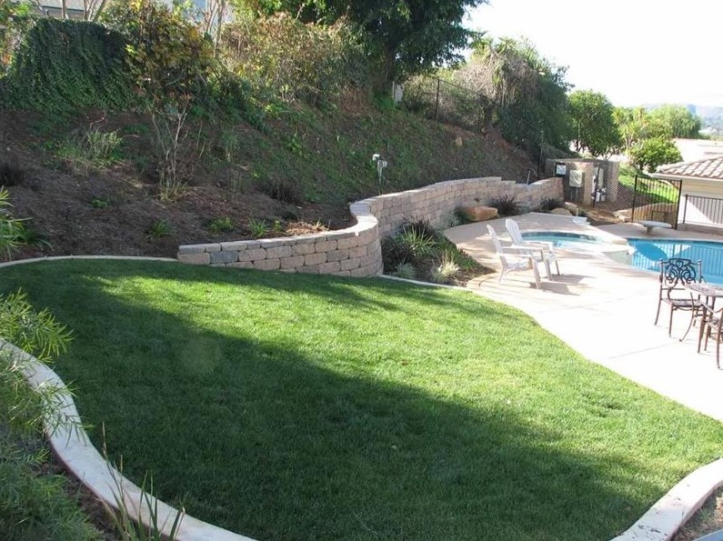 beautiful backyard with the slopes