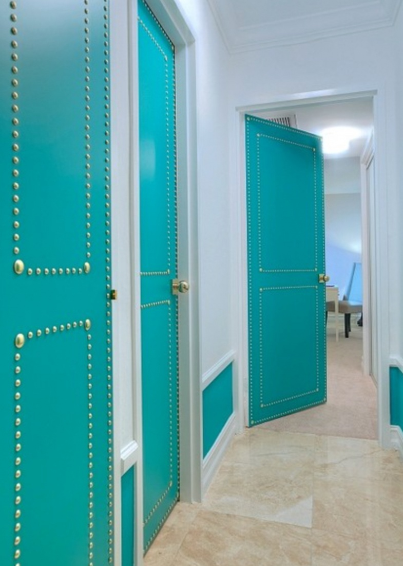 high quality turquoise doors
