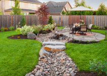 river rock landscaping