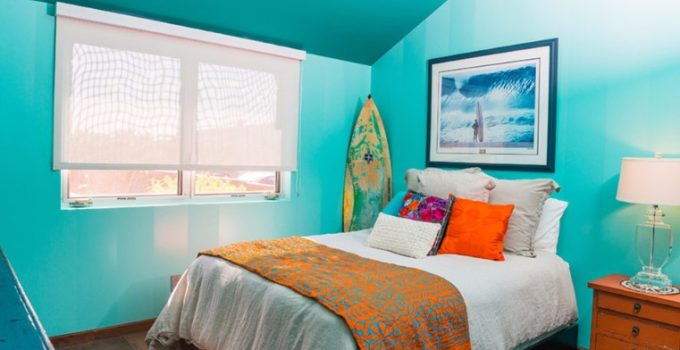 turquoise painting for your room