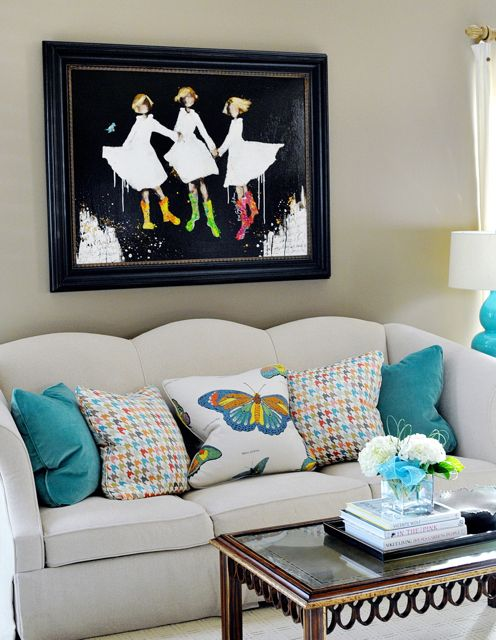 turquoise quality pillows