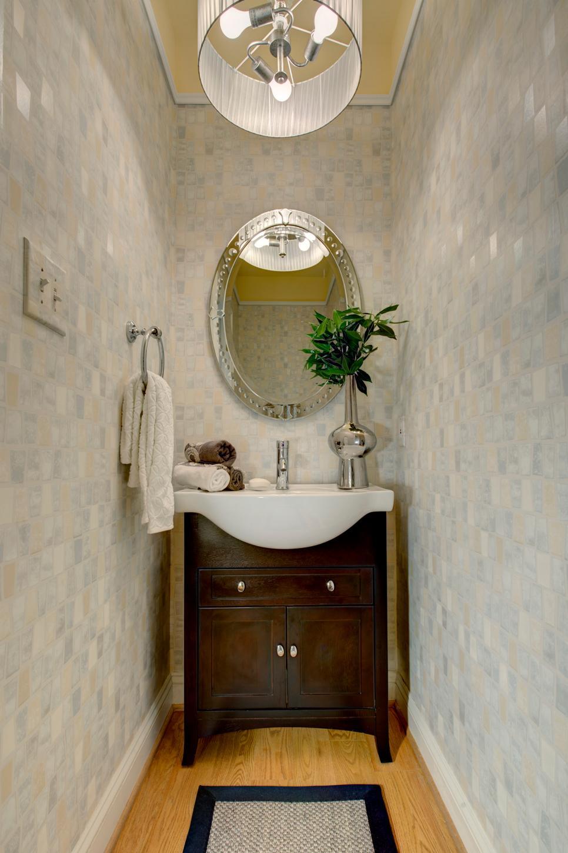 Budget Bathroom Remodel Peaceful Powder Room