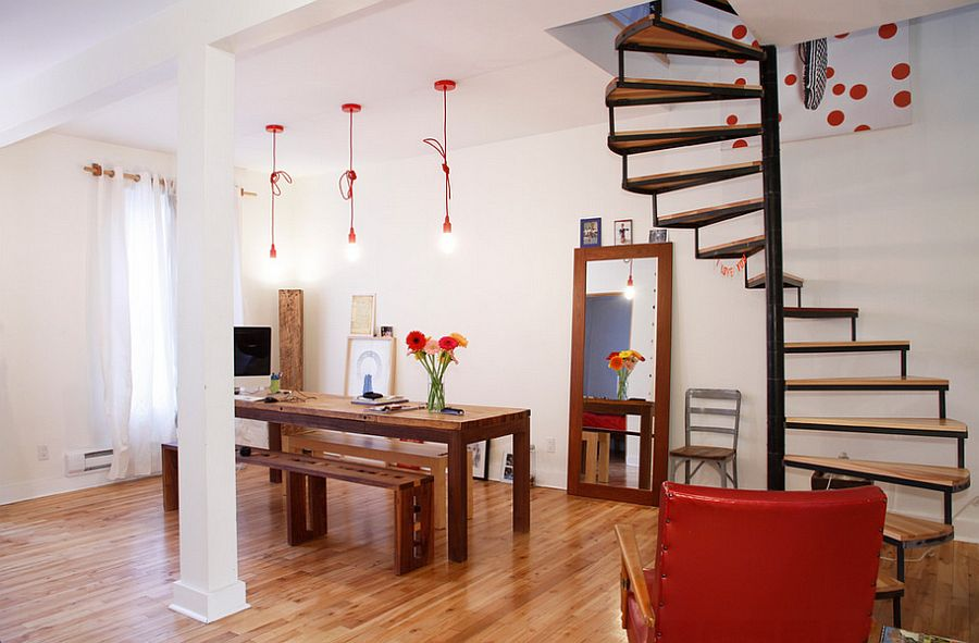 Simple Red Pendant Lighting