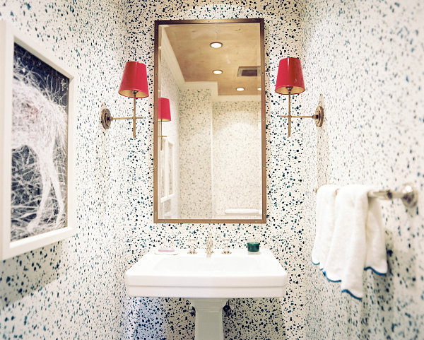 Abstract Styled Small Bathroom
