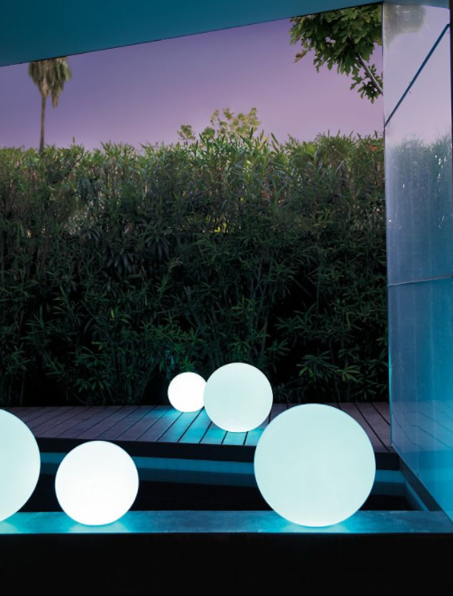 Blue Ball Outdoor Lighting