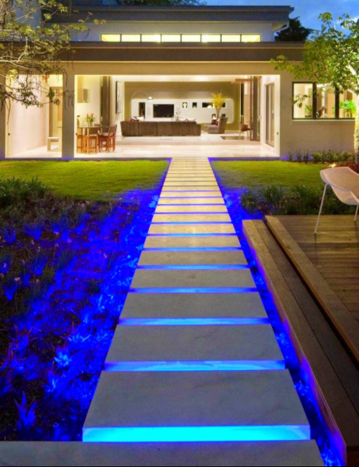 Blue Path Outdoor Lighting
