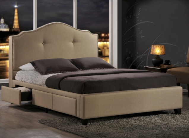 Comfortable Light Brown Bed