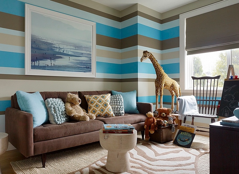 Geometric Patterns and Animal Prints to Design and Decorate a Kids' Room
