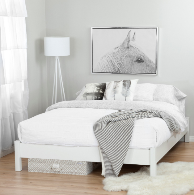 White Space Queen Bed