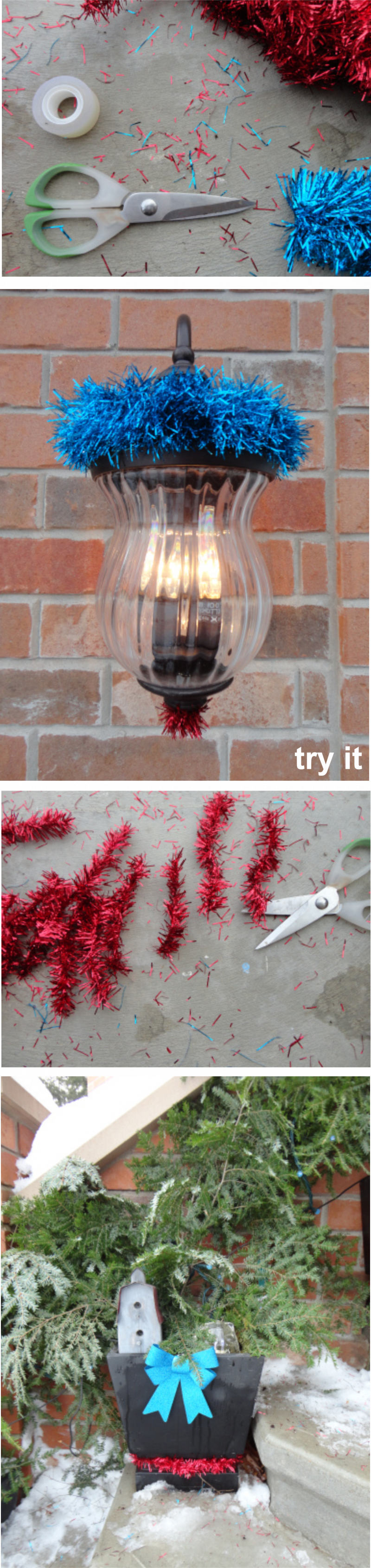 decorate your house for christmas without money