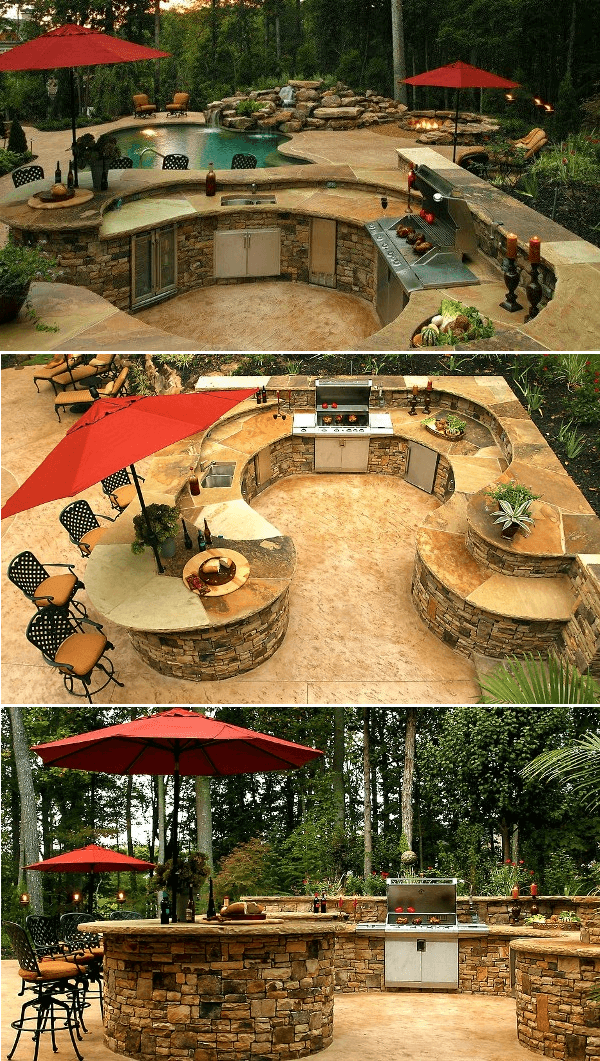 Outdoor Kitchen Ideas for Perfect Family Gathering 17