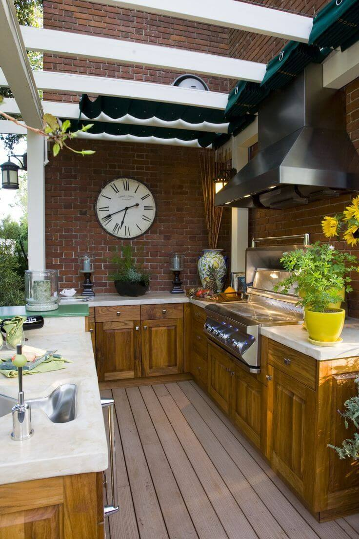Outdoor Kitchen Ideas for Perfect Family Gathering 18