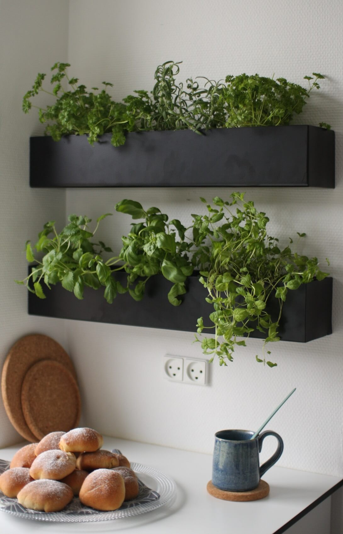 kitchen-wall-decor-ideas Another hanging garden, but simpler this time