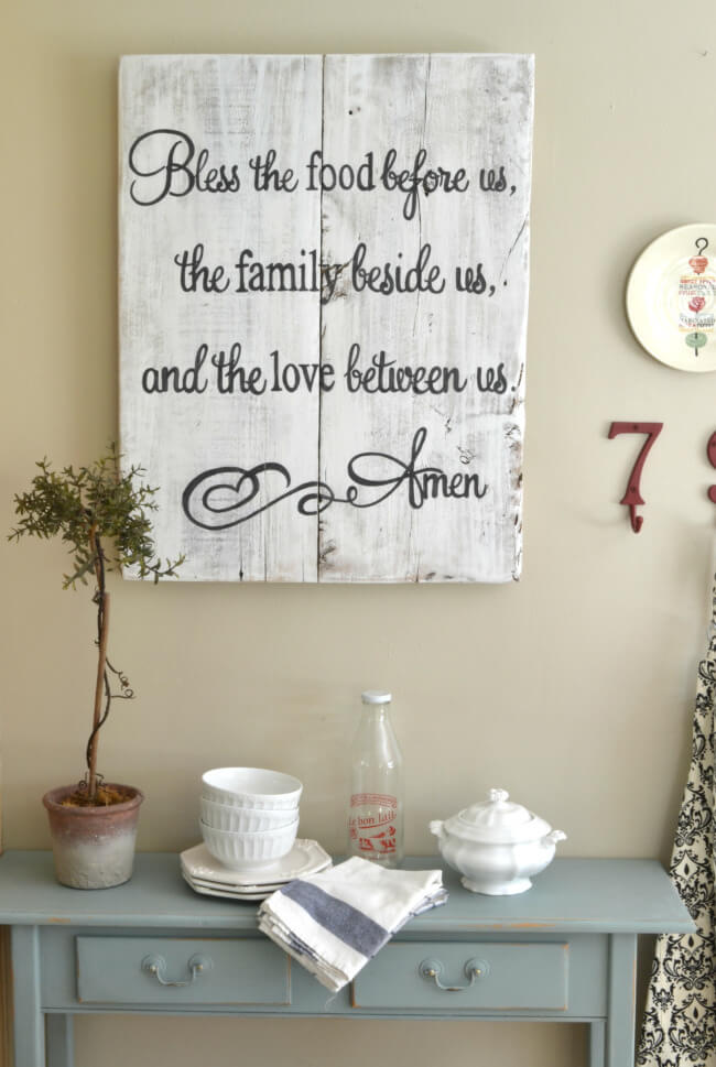 kitchen-wall-decor-ideas Blessing and whatnots