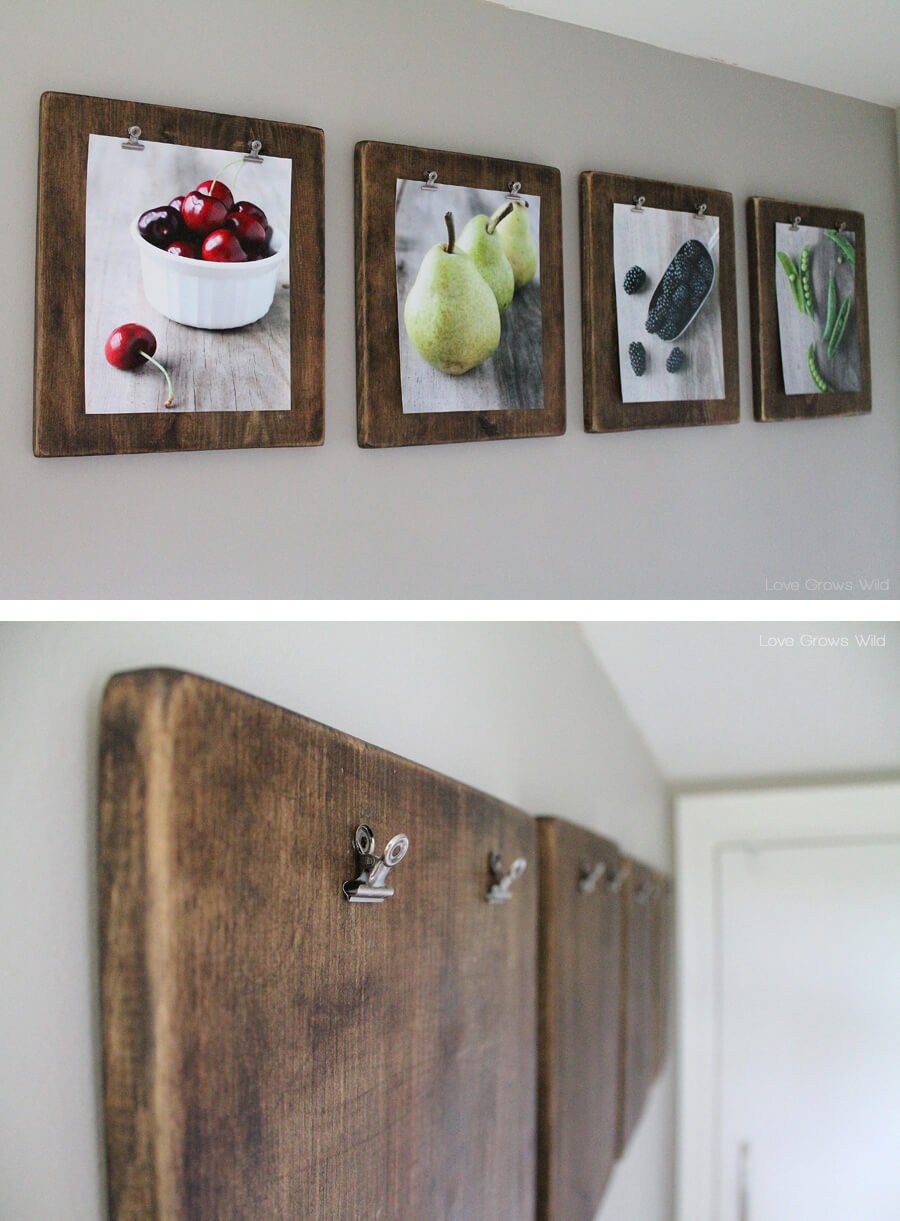 kitchen-wall-decor-ideas The clipping frames