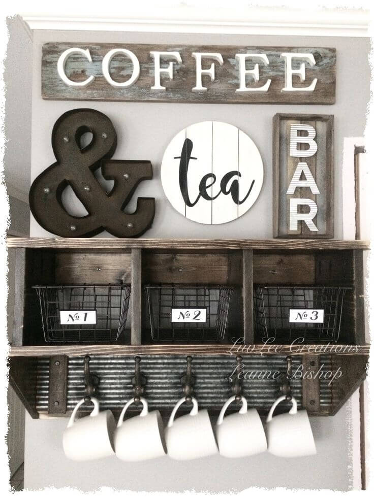 Kitchen Wall Decor Ideas The Coffee U0026 Tea Shelves