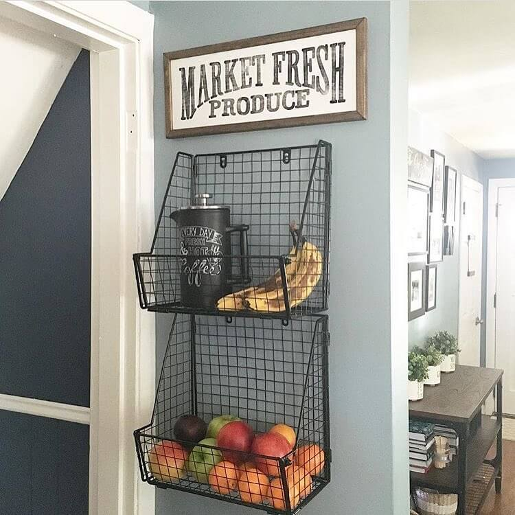 kitchen-wall-decor-ideas The fresh product rack
