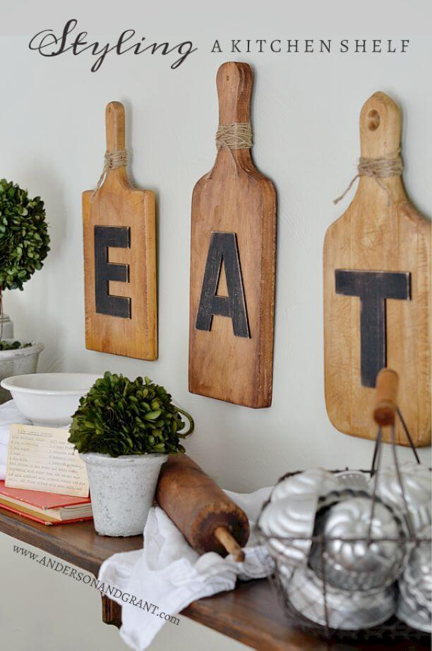 kitchen-wall-decor-ideas The simple shelve