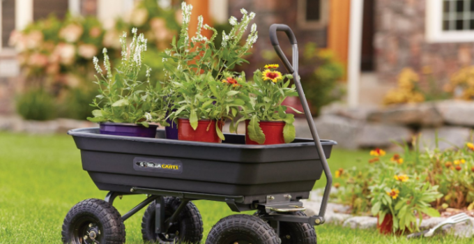 Best Budget Wheelbarrow Gorilla Carts Poly Garden 1