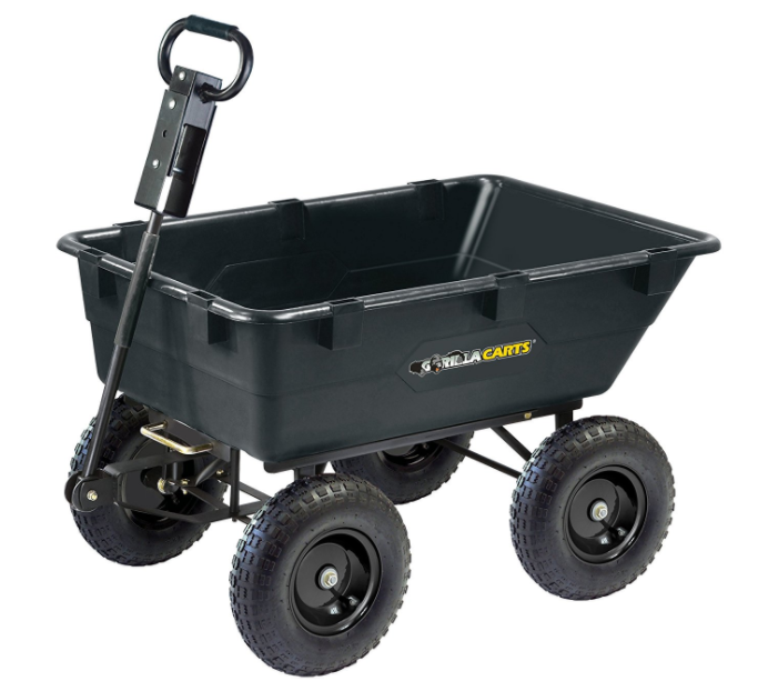 Gorilla Carts GOR866D Heavy-Duty Garden Poly Dump Best Wheelbarrow 1