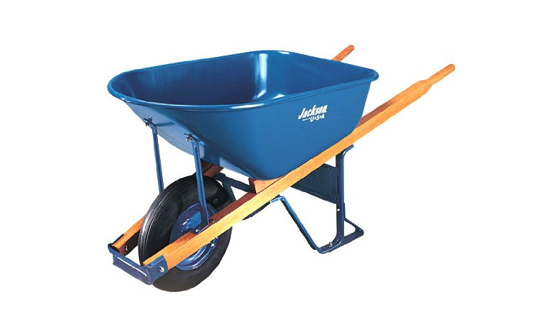 Jackson M6T22 6 Cubic foot Steel Tray Best Contractor Wheelbarrow