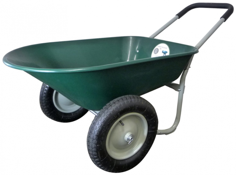 Marathon Dual-Wheel Residential Yard Rover Best Wheelbarrow 1