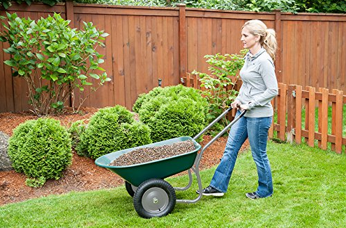 Marathon Dual-Wheel Residential Yard Rover Best Wheelbarrow 2