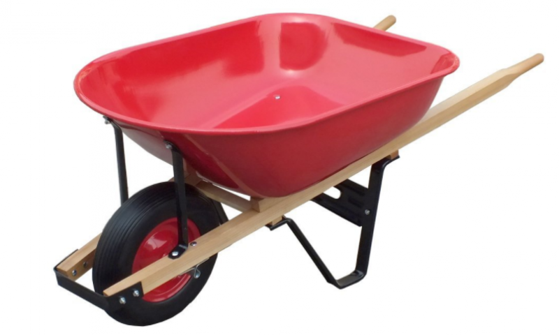 United General WH89982 Heavy Duty Steel Tray Wheelbarrow