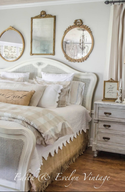 Gilded Mirrors and White Wicker