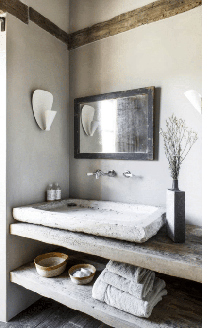 Stone-Inspired Basin for a Rustic Look