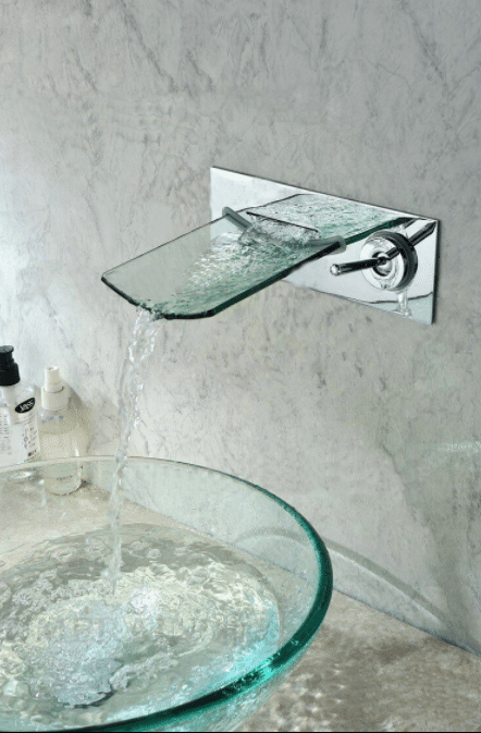 Ultra-Modern Glass Faucet and Sink