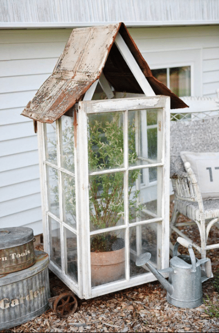 Create a Cute Greenhouse with Window Frames