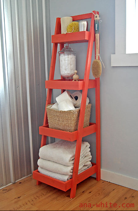 Repainted Coral Painter's Ladder