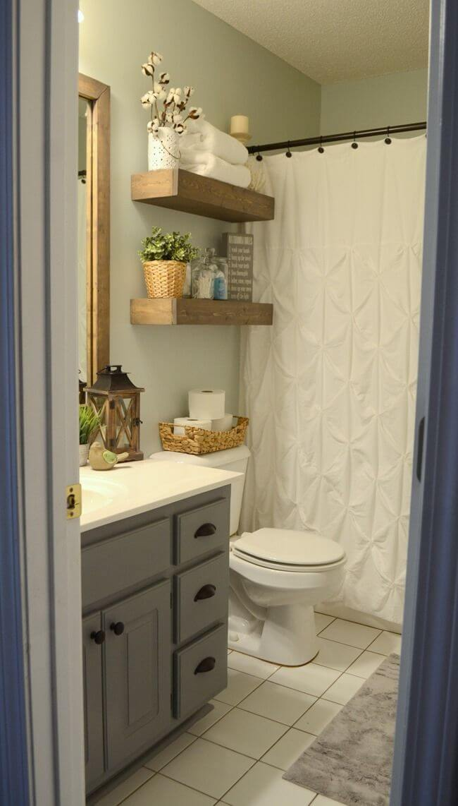 Scaled To Wood DIY Bathroom Shelf Ideas