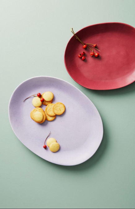 Color Study Earthenware Serving Plate