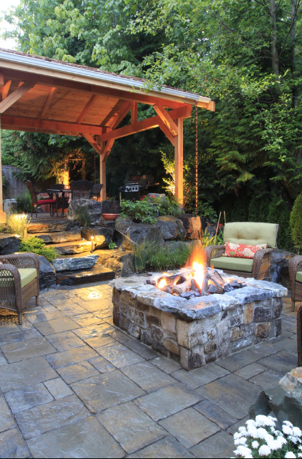 stone patio design in Seattle