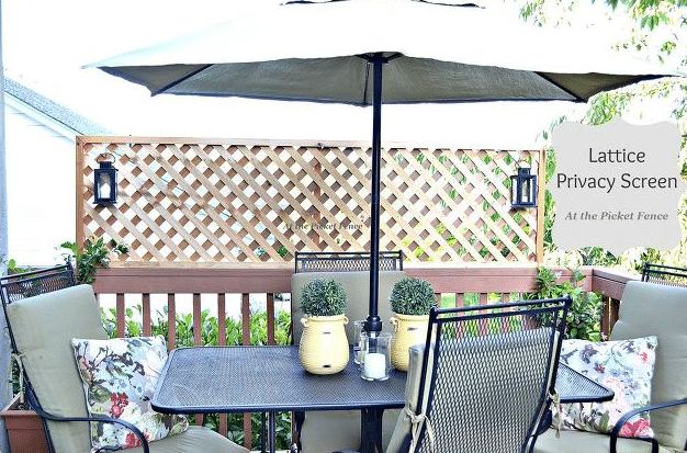Contemporary Lattice Screen-diy deck railing