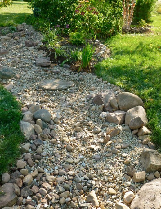 Dry Creek Bed Landscaping 1