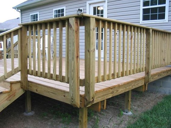Externally Mounted Posts-diy deck railing