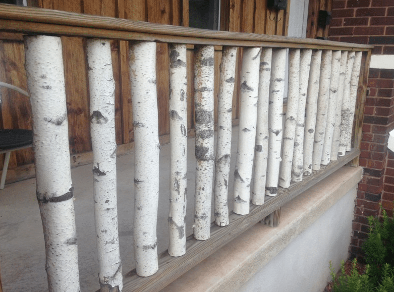 Wonders of Birch Wood-diy deck railing