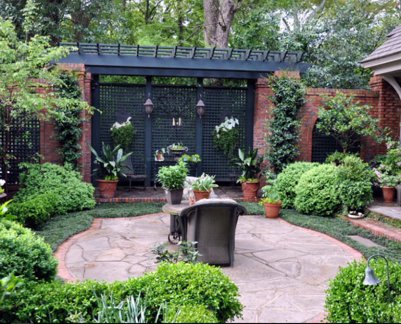 crescent ave urban oasis traditional patio